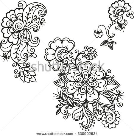 Henna tattoo flower template.Mehndi. | design | Pinterest | Mandalas ...