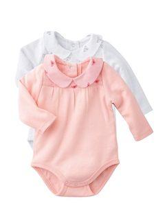 4a540149dc166 Lote de 2 bodies de manga larga bebé niña recién nacida