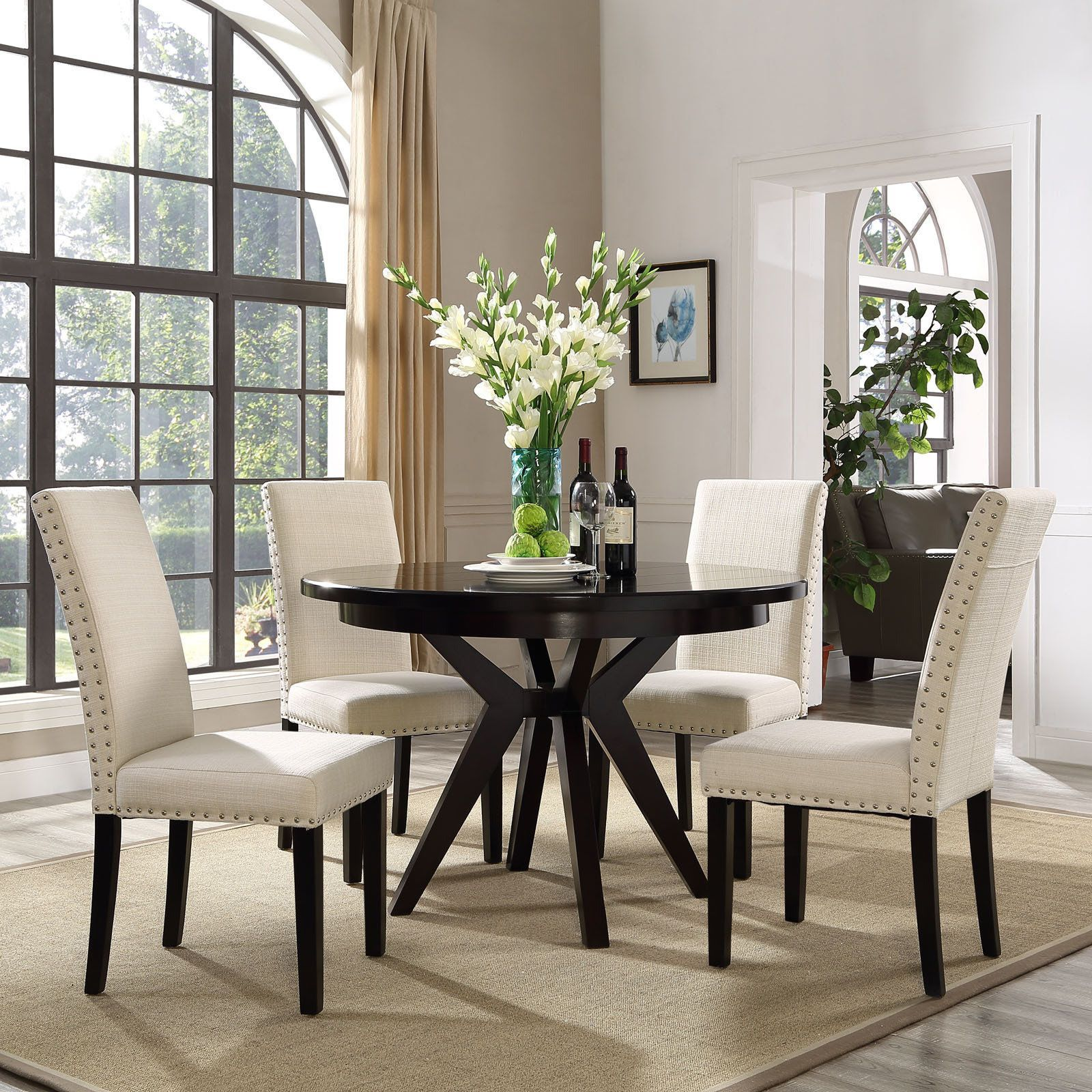 Modway Parcel Upholstered Grey Beige Dining Side Chair Gray Beauteous Upholstered Dining Room Chairs Inspiration Design