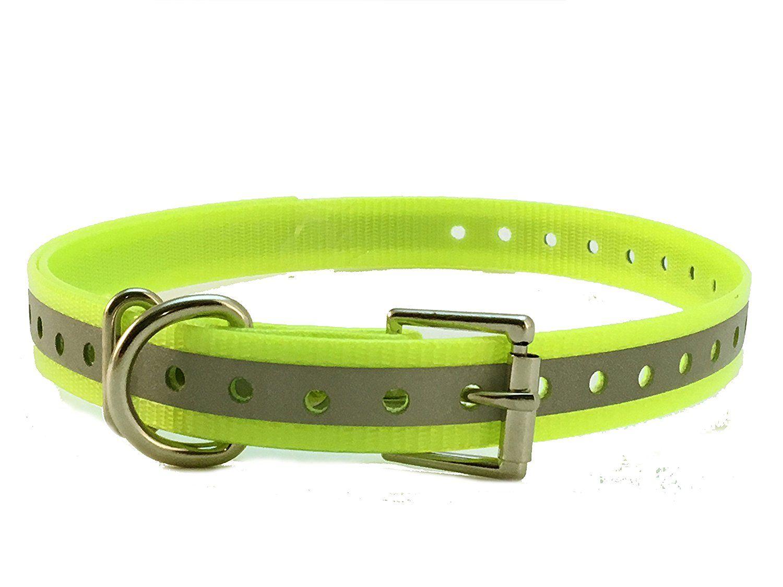 Sparky Petco 1 Roller Buckle High Flex Reflective Yellow Waterproof Dog Strap For Garmin Dogtra Petsafe Sportdog E Dog Training Pads Petco Dog Training Collar
