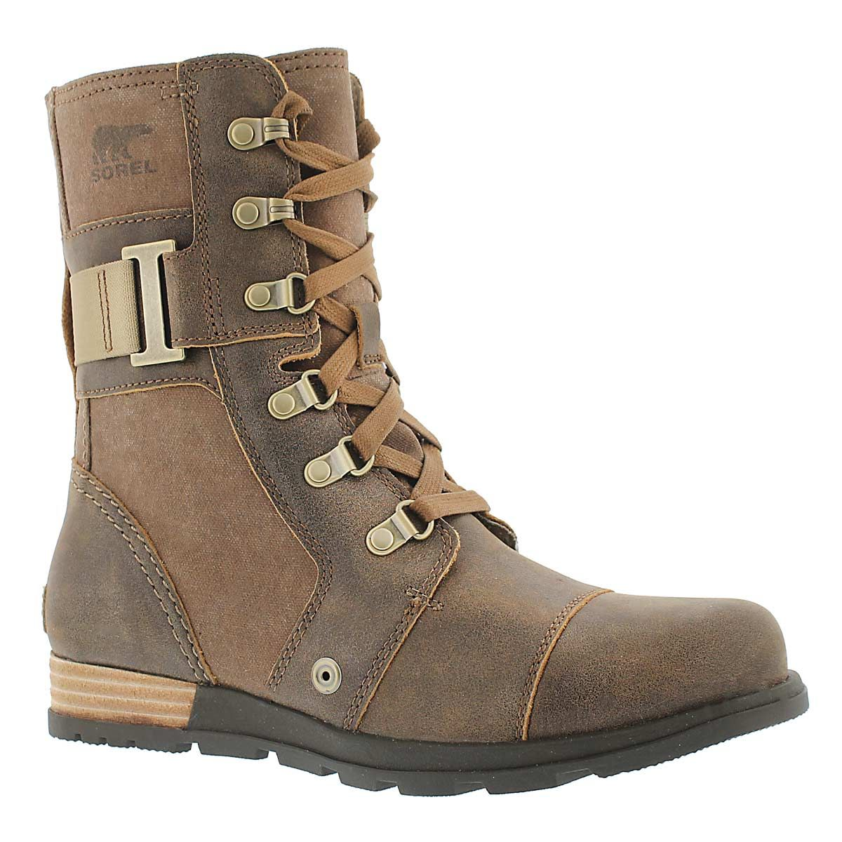 Lds Major Carly nutmeg lace up boot