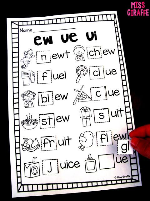 ew ue ui worksheets and no prep activities for a lot of phonics ...