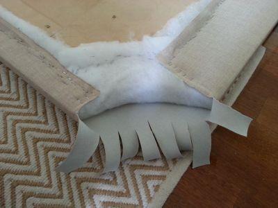 Easy DIY upholstered headboard nail head trim tutorial ...