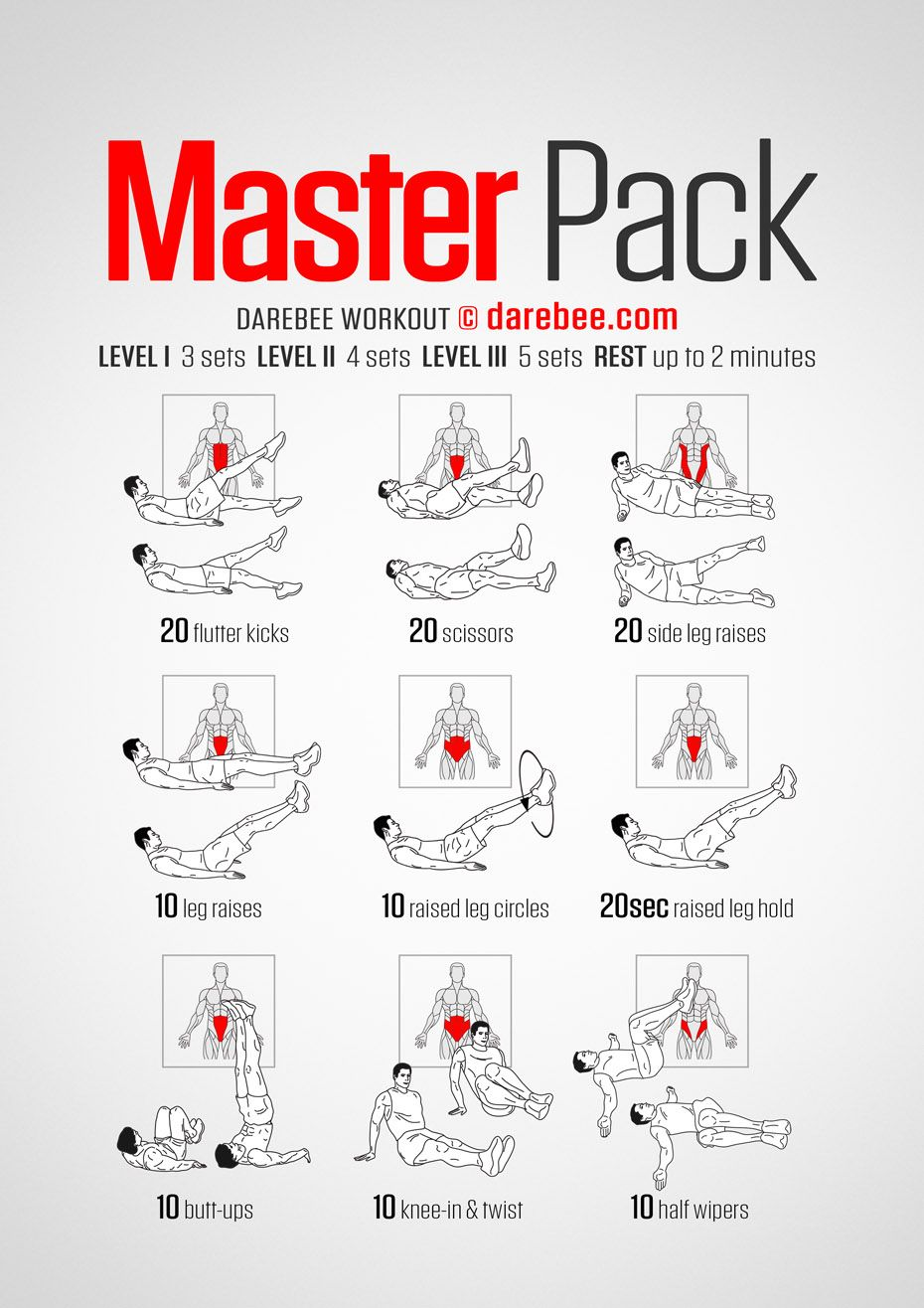 Masterpack Workout #exercisesforupperback