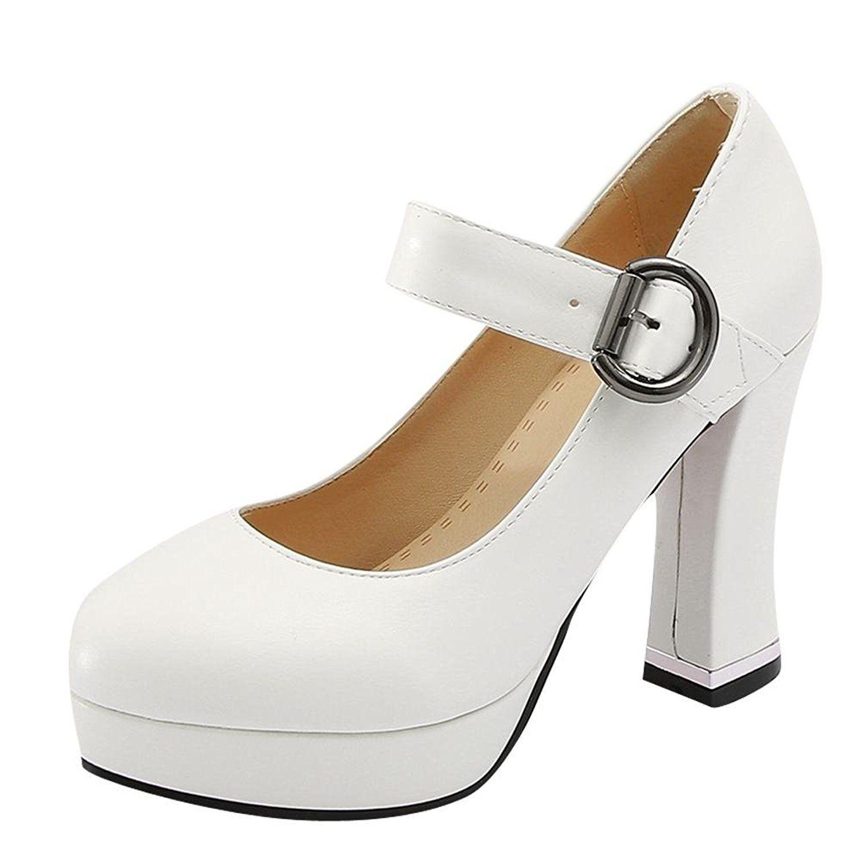a9ec02e13d Carolbar Women's Buckle Platform Sweet Retro Lolita High Heel Mary Janes  Shoes. Carolbar Company was a collection of production, design, sales of  women's ...