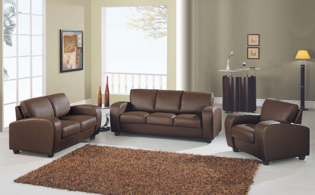 Room Awesome Brown Leather Sofa