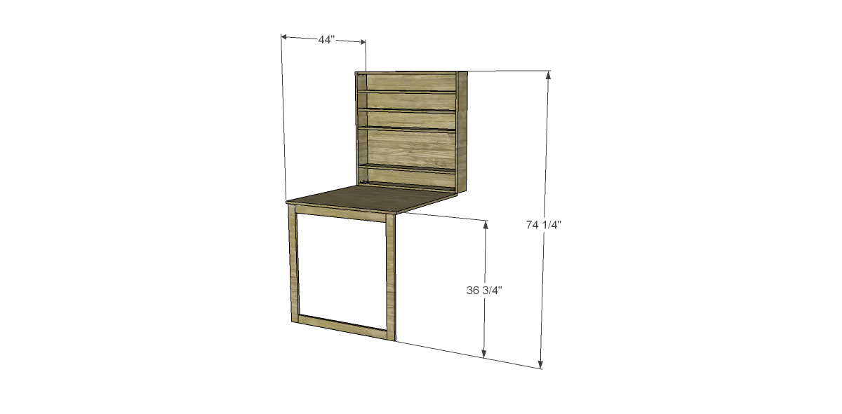 Free plans to build a napa style inspired fold down table Fold down desk