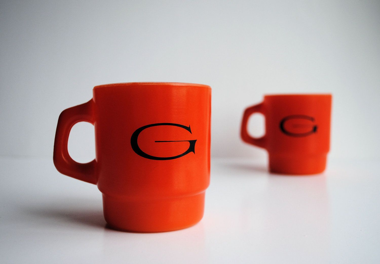 Anchor Hocking Glatfelter Mugs - Set of Two