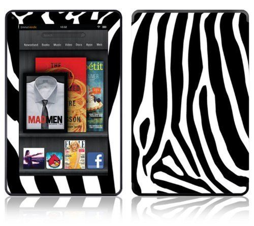 Zebra print design decorative skin decal sticker for amazon kindle fire 7 inch color multi touch display by factory outlet 14 98