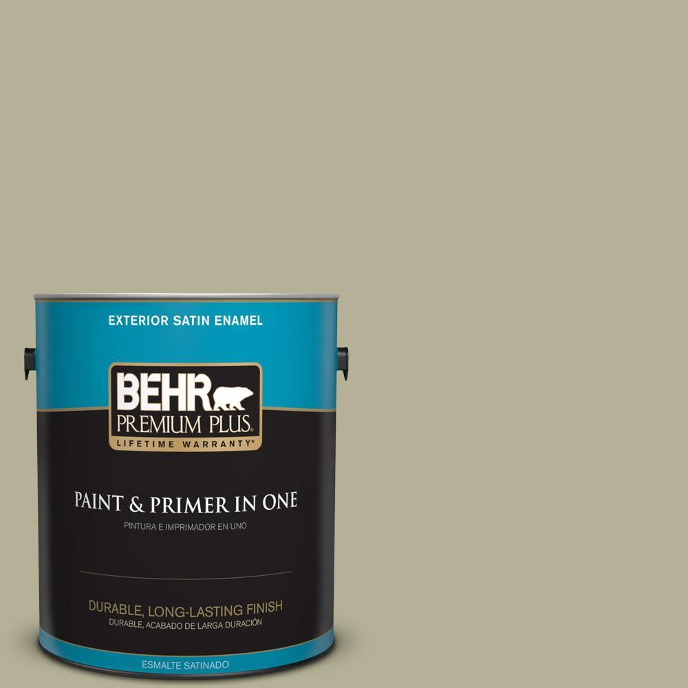 BEHR Premium Plus 1 gal. #PPU9-20 Dill Seed Satin Enamel Exterior Paint
