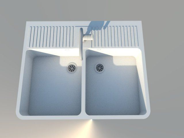 3d model evier timbre style domsjo ikea c4d obj 3ds fbx. Black Bedroom Furniture Sets. Home Design Ideas