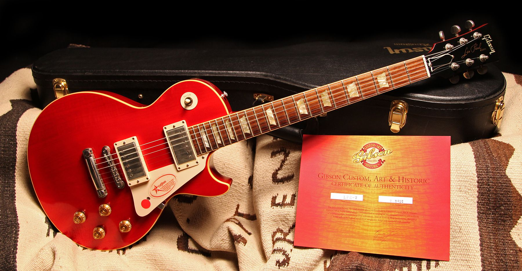 "2007 Gibson Les Paul Custom Pre-Lucy ""Cherry Red"""