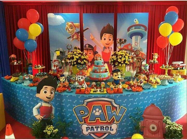 Tem tica paw patrol decoraci n de fiestas - Ideas fiesta cumpleanos infantil ...