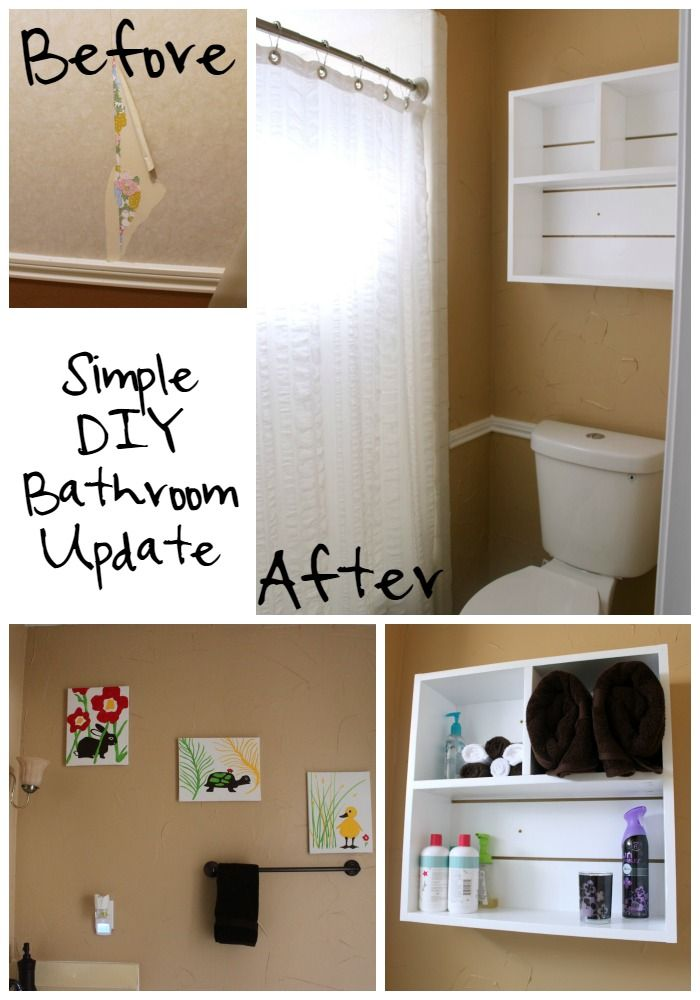 Blukatkraft Diy Quick Easy Wall Art For Bathroom: Our Simple DIY Bathroom Update