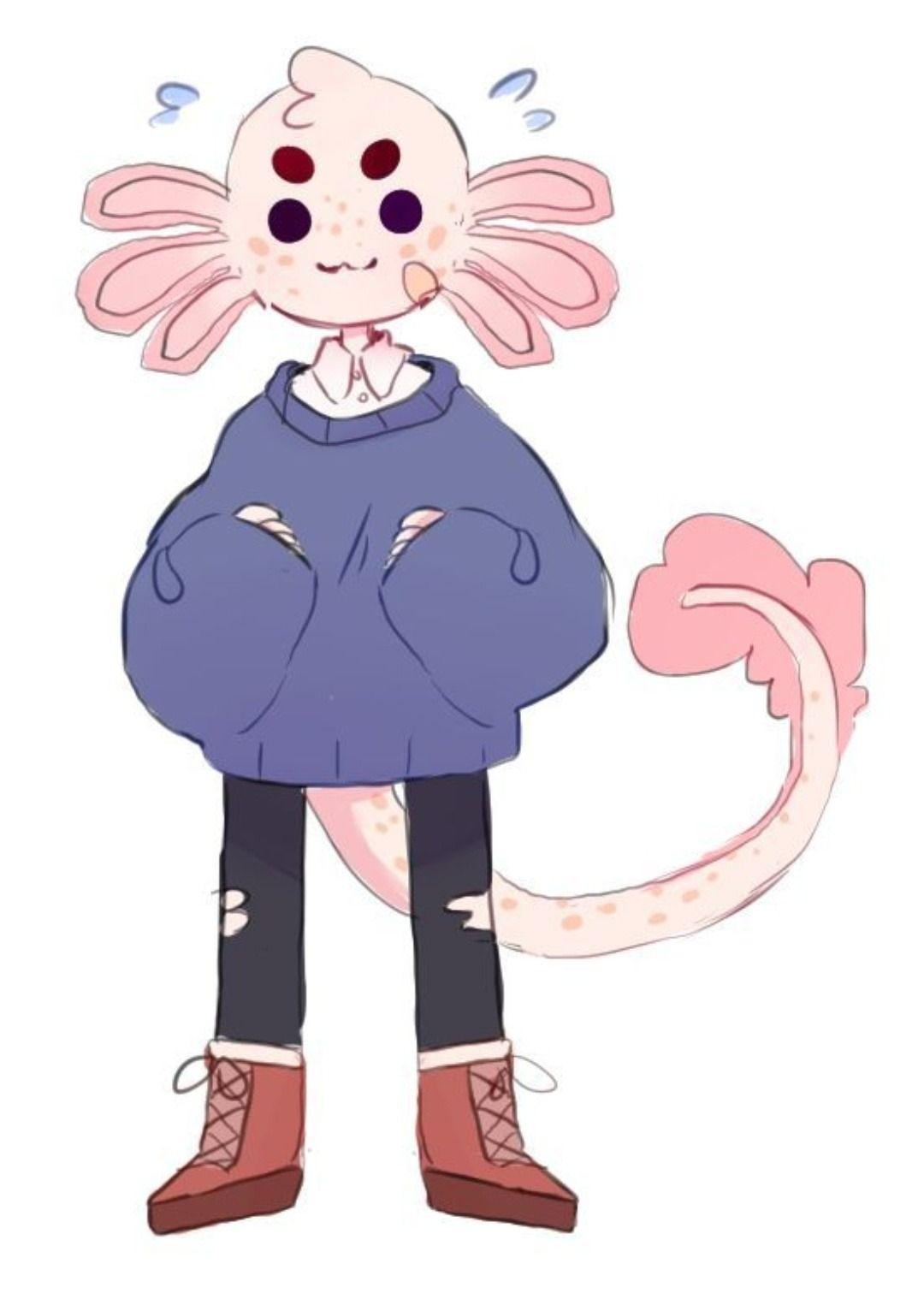 I Made An Axolotl Character 0 Furry Art Cartoon Art Styles Cute Art