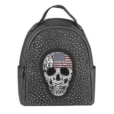 Photo of DAMEN TOTENKOPF RUCKSACK Handtasche Backpack Cityrucksack Schultertasche Daypack…
