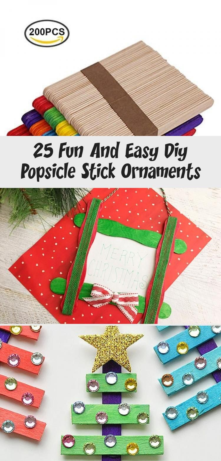25 Fun and Easy DIY Popsicle Stick Ornaments - Fun Loving Families #christmascraftsFood #christmascraftsForStudents #christmascraftsForTeens #christmascraftsForInfants #Woodenchristmascrafts #popciclesticks