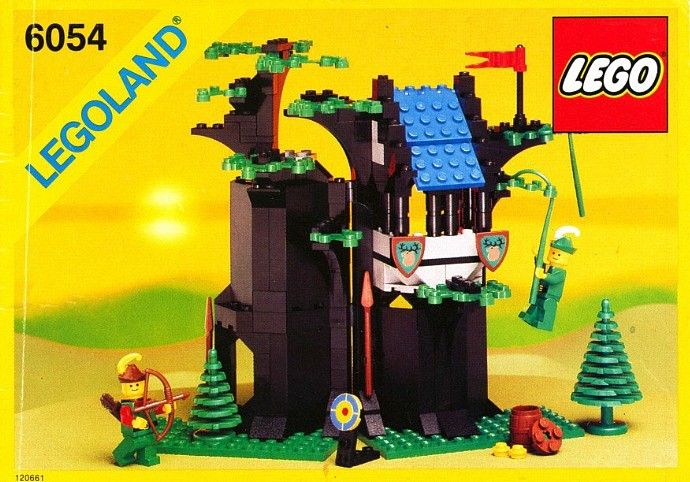 6054 1 Forestmens Hideout Legos Legos And Lego Castle