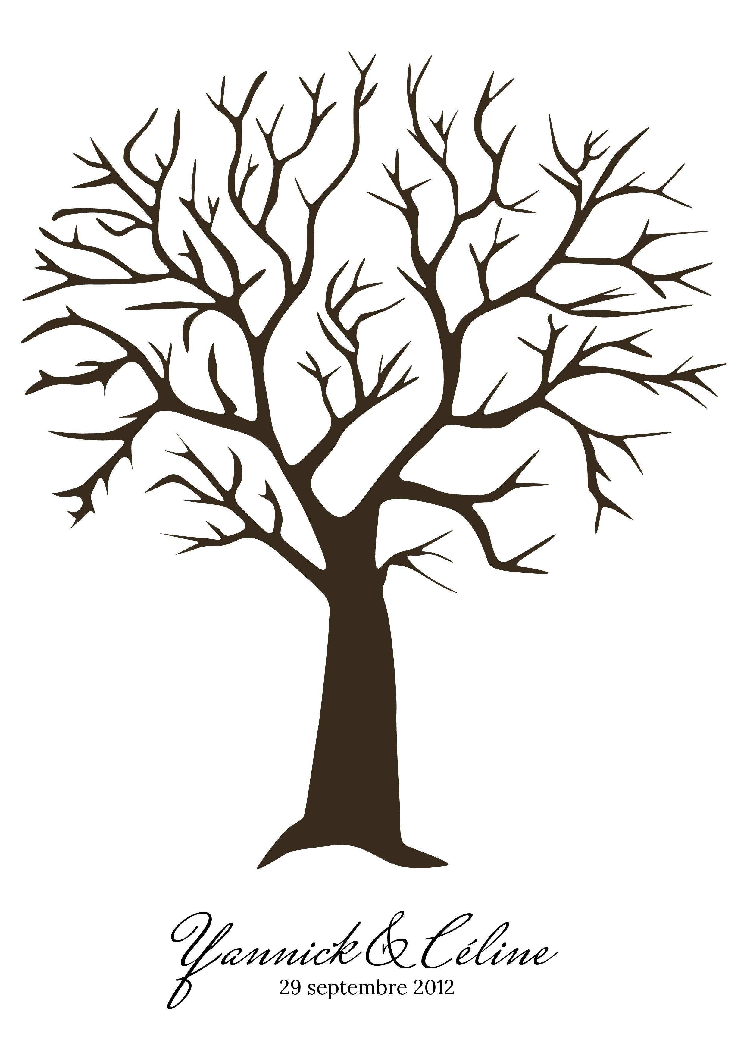 Arbre empreintes personnalis libros pinterest - Dessin arbre nu ...