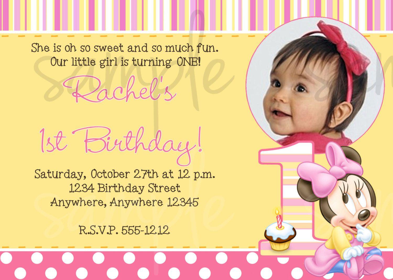 nice Create 1st Birthday Invitation Wording Free Check