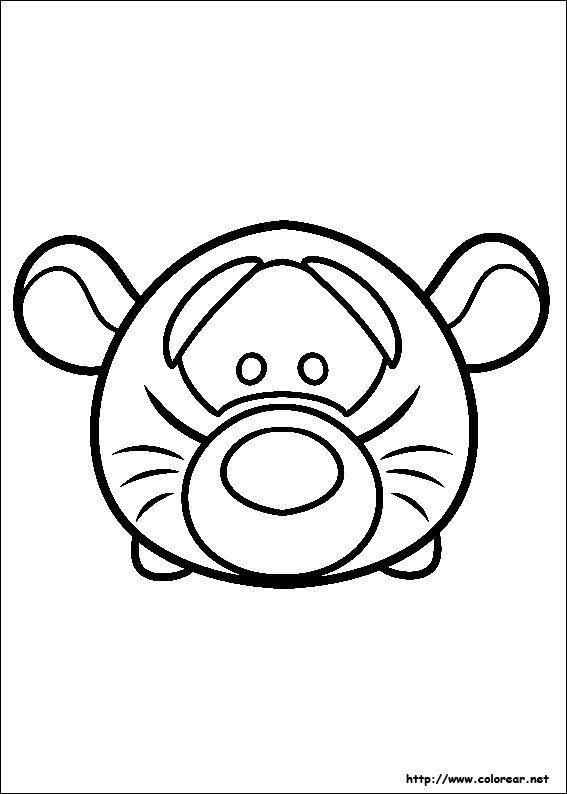 Dibujo de para imprimir ! | Tsum tsum para colorear ...