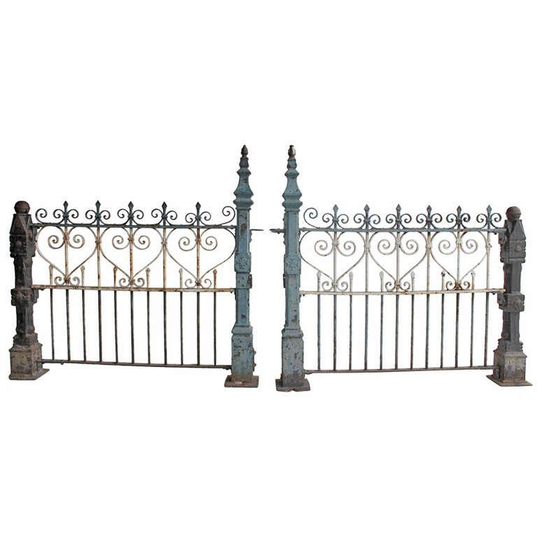 Custom Made Antique Cast Iron Fence From A Unique Collection Of Antique And Modern Doors And Gates At Https Ww Cast Iron Fence Iron Fence Antique Cast Iron