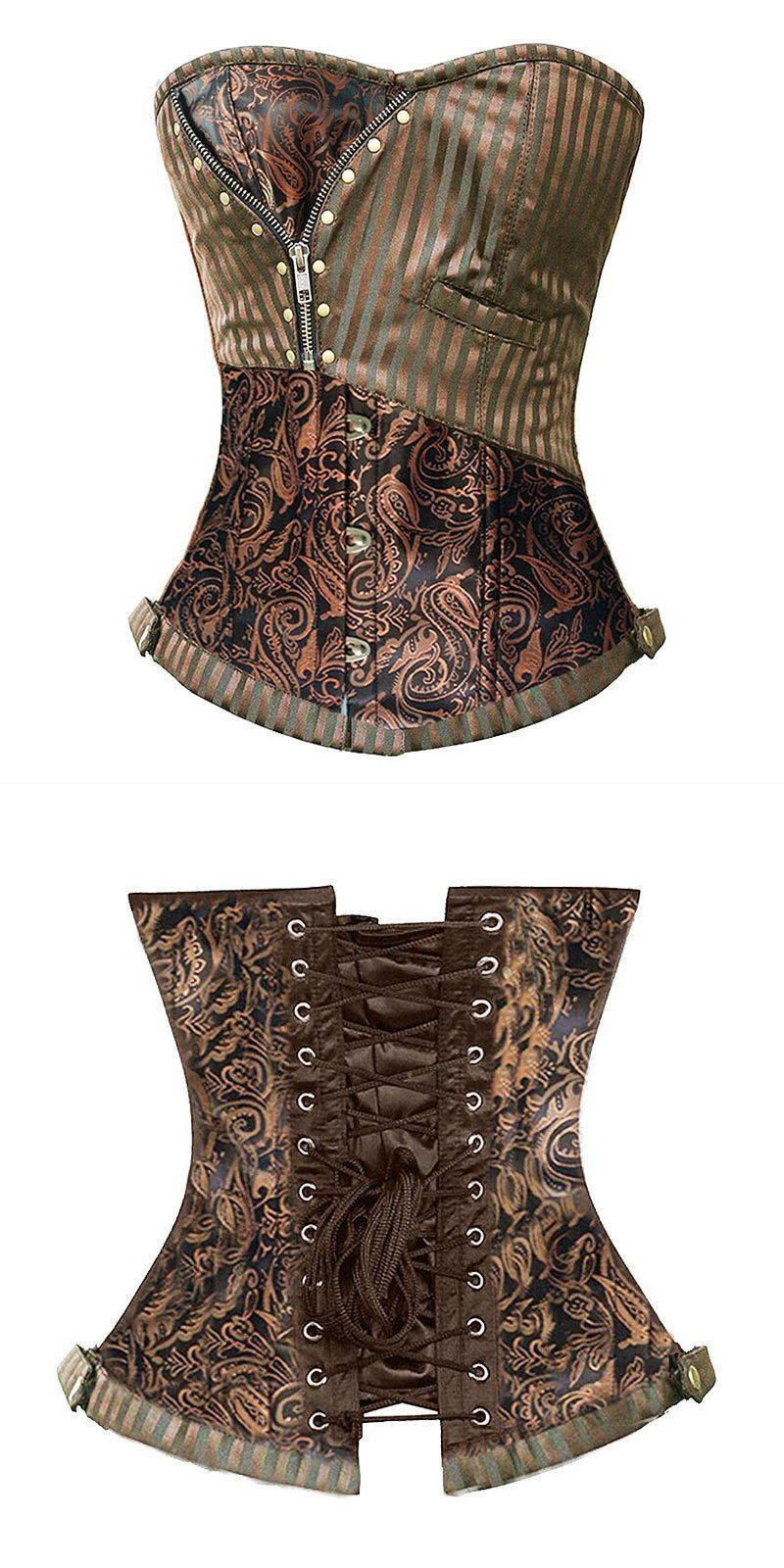 3541e34c8c Helloween costumes sexy corsets and bustiers steampunk corset brocade waist  cincher gothic corselet evening dress size s-6xl  women  bustiers      corsets ...
