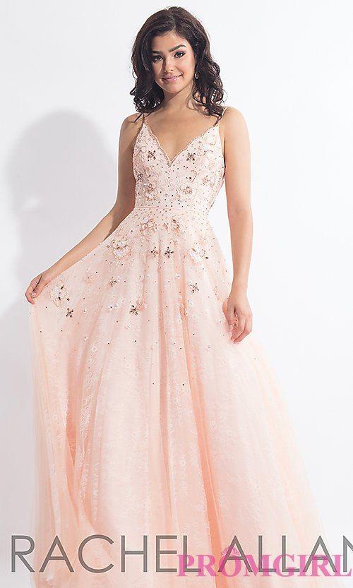 e185630082ce Long Open-Back Lace Rachel Allan Prom Dress in 2019 | Prom | Prom dresses, Formal  dresses, Dresses