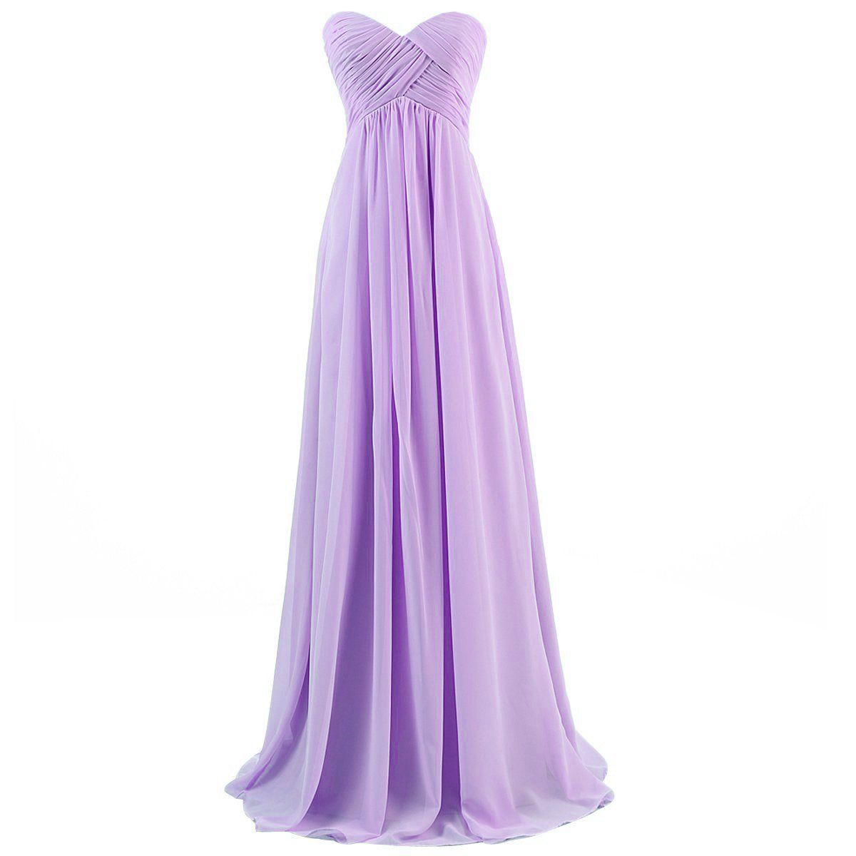 Dresstells Brautjungfernkleid Lang Chiffon Abendkleider mit ...
