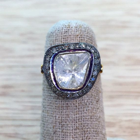 Vintage Style Diamond Ring by BFJewelryEst1984 on Etsy