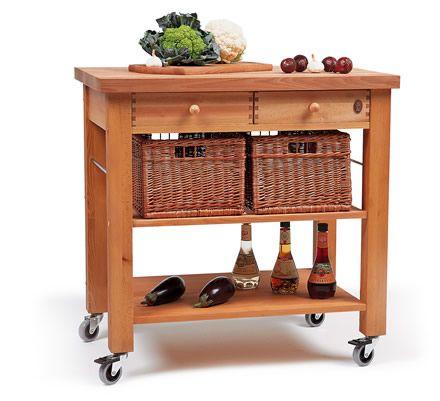 Lambourn 2 Drawer Kitchen Trolley