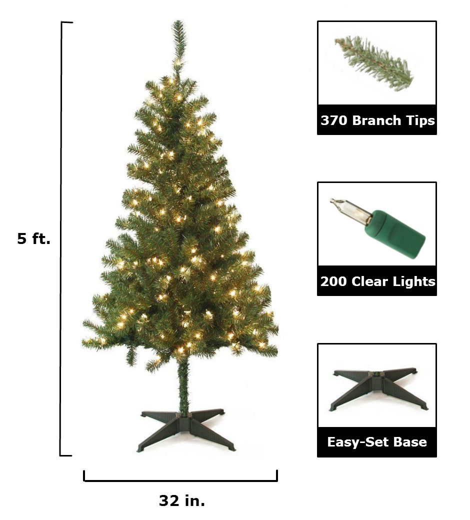 home accents holiday 5 ft pre lit wood trail pine artificial christmas tree with clear lights 6050 370 200l at the home depot