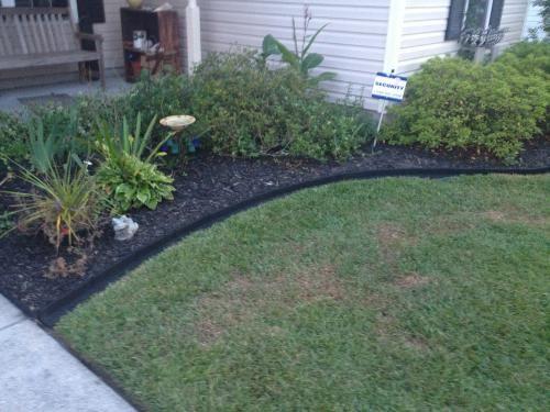 Vigoro Ecoborder 4 Ft Black Rubber Landscape Edging 6 Pack Ecobrd Blk 6pk The Home Depot Diy Landscaping Lawn And Landscape Backyard Landscaping