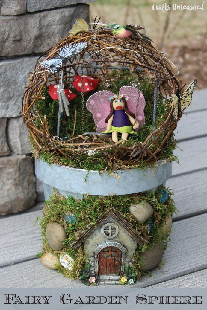Make Your Own Fairy Garden Sphere