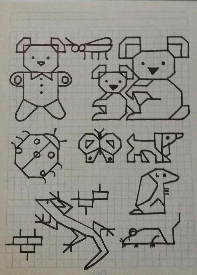 Dibujo Cuadros Libreta Dibujos En Cuadricula Cuadricula Para Dibujar Adornos Blackwork