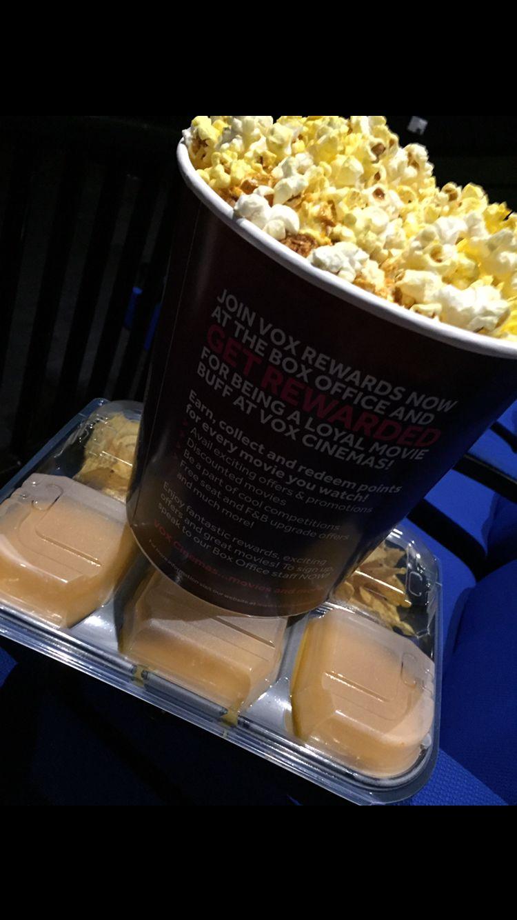 Popcorn and nachos