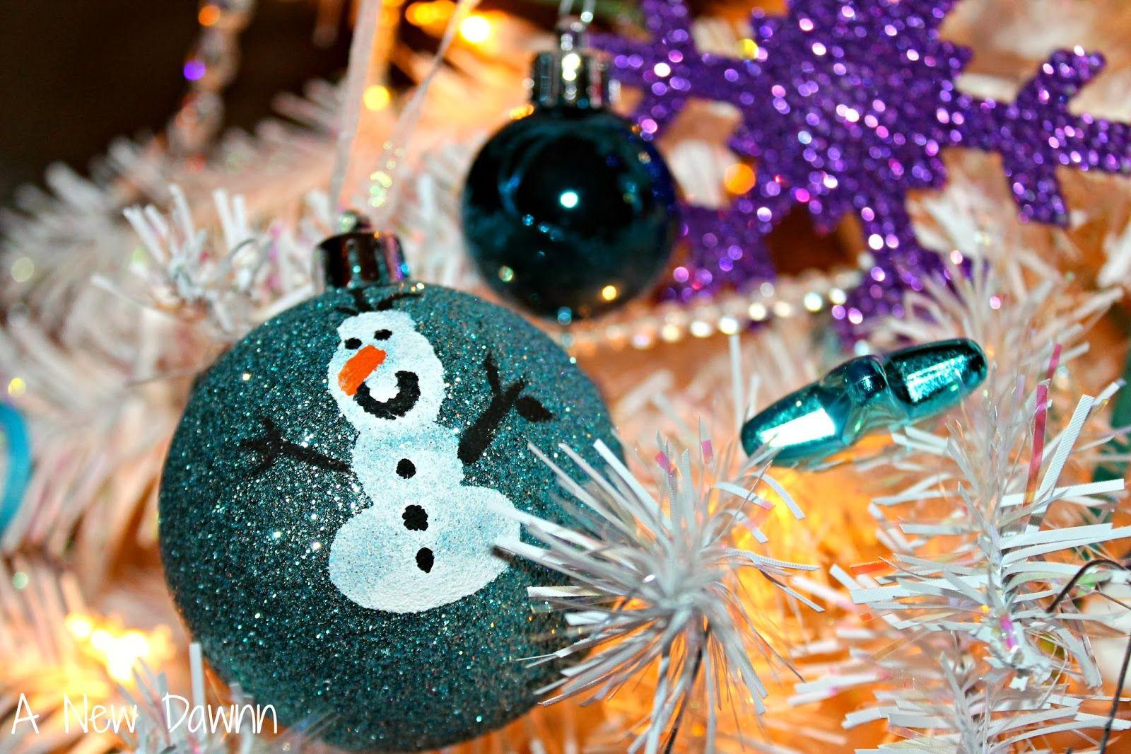 Disney Olaf Ornament: Steps to make an Olaf fingerprint ornament ...