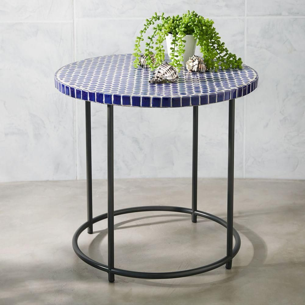 Good Add A Little Art To Your Outdoor Space With The Mosaic Tiled Side Table.  Its Ceramic Tiles Are Carefully Inlaid By Hand Onto An Antiqued Bronze  Metal Base, ...