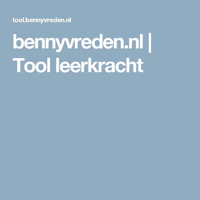 bennyvreden.nl | Tool leerkracht