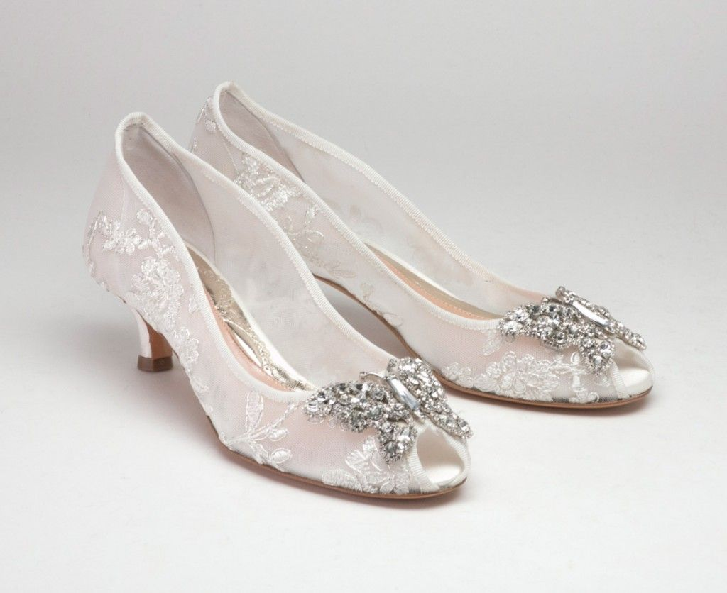 *NEW* Ivory Lace with Silver Detail Heel 30mm