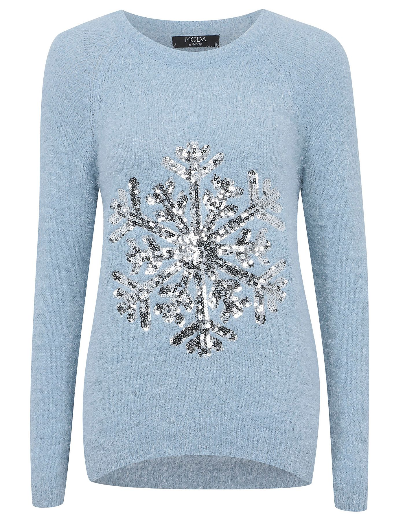 harmonious colors the sale of shoes beautiful in colour Moda Sequin Snowflake Eyelash Jumper | Women | George at ...