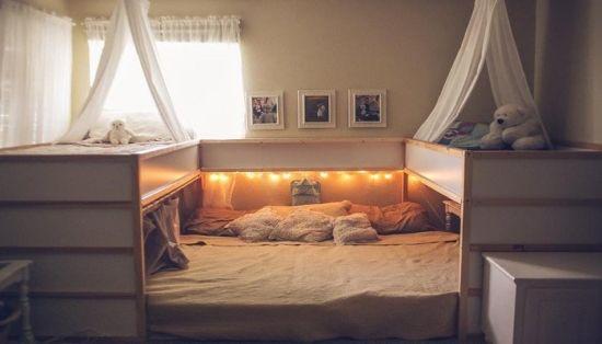 Familien Kallax Bett: Bett aus Kallax Regalen selber bauen