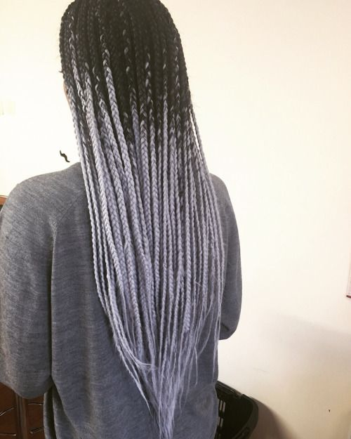 Ombre Box Braids Tumblr Pesquisa Google Grey Box Braids Hair Styles Box Braids Styling