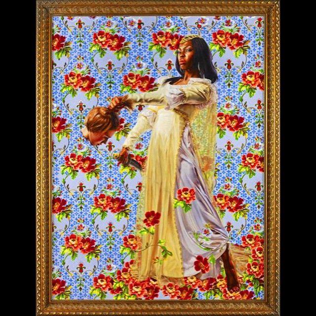 Judith Beheading Holofernes, 2012 oil on canvas 96 x 72 inches #kehindewiley #contemporaryart #aneconomyofgrace