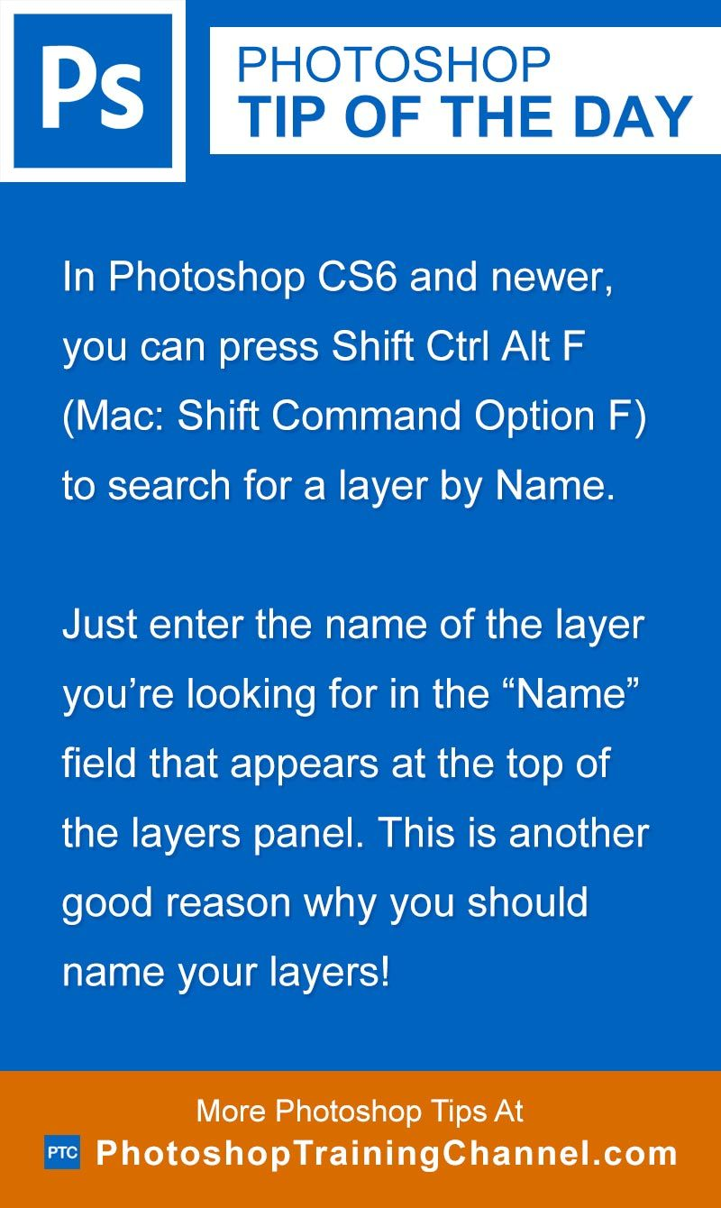 Search for layers by name in photoshop cs6 and newer you can press shift ctrl alt f mac ccuart Choice Image