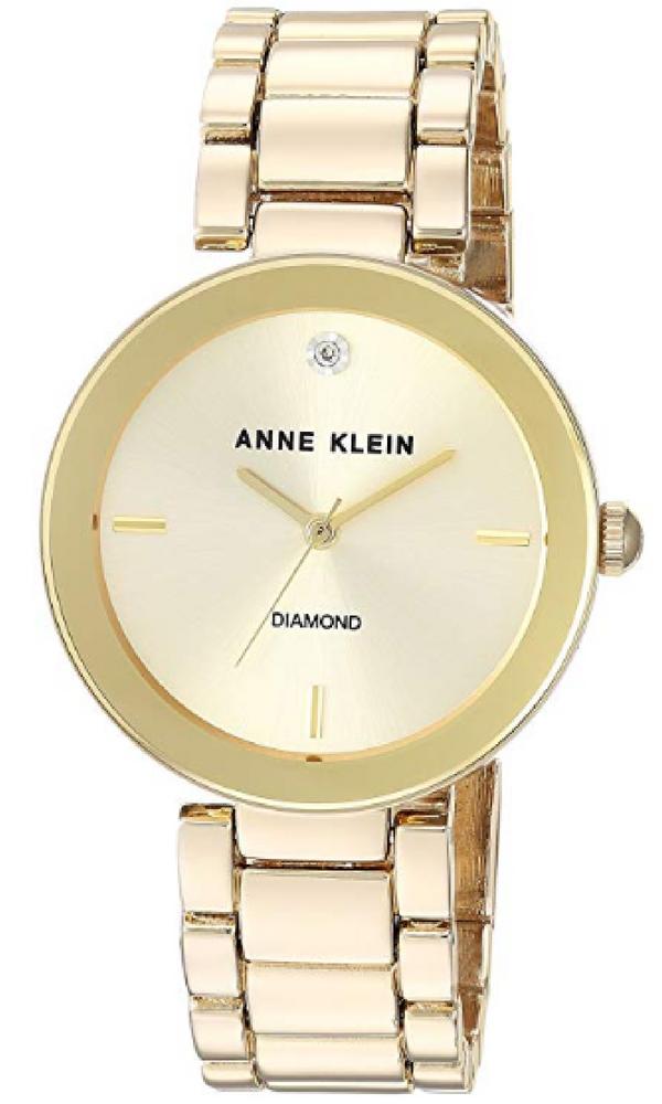 d25ab25c22e8 Anne Klein Women s AK 1362CHGB Diamond Dial Gold-Tone Bracelet Watch.  watch   watches  rosegold  pink  accessories  fashion  diamond  goldtone