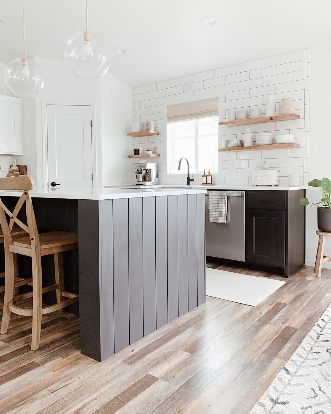 C H E L S E Y On Instagram Sometimes You Just Need To Make Your Dreams Come True And By Dreams I Mean Wrap Your Shiplap Kitchen Home Kitchens Brown Kitchens