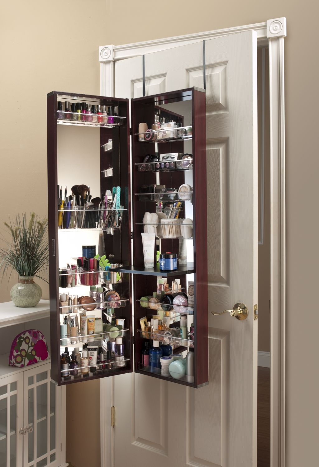Exceptional Over The Door Cherry Beauty Organizer.may Be A Good Thing For Makenz