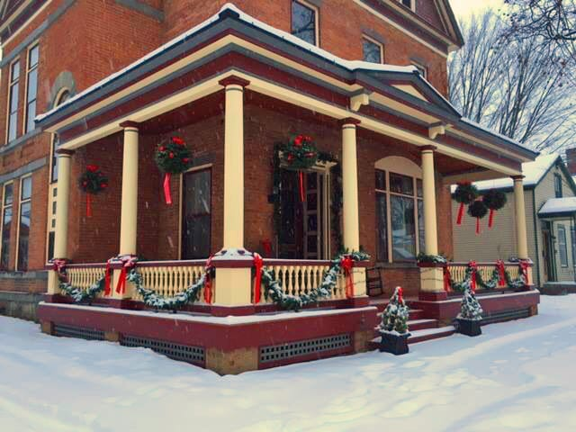 Victorian Porch Railing at Christmas - American Porch, LLC ...