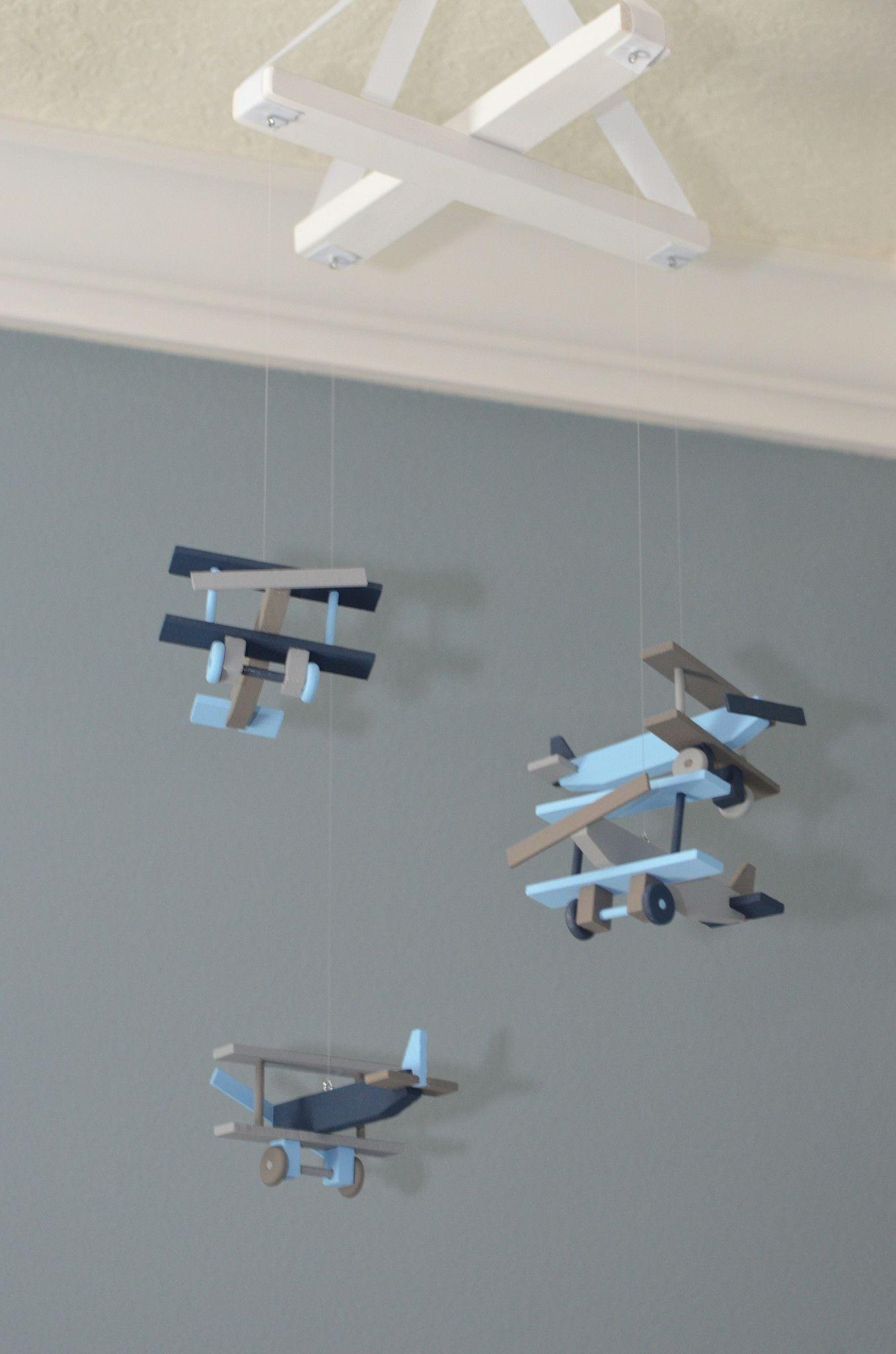 Airplane Nursery Mobile Bi Plane Custom